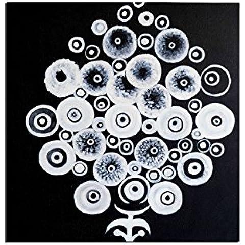 Mazzo Rotondo - quadro dipingere-mano pittura ad olio - Rilievo Rotonda Telaio