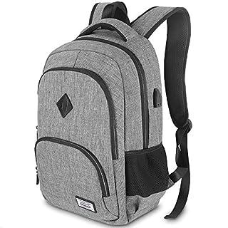 Laptop Rucksack, Herren Business Rucksack für 15.6 Zoll Laptop Schulrucksack mit USB-Ladeanschluss für Arbeit Wandern Reisen Camping, für Herren, Oxford, 20-35L - Grau