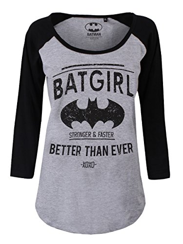 Batman Batgirl - Better Than Ever Langarmshirt grau meliert/schwarz L