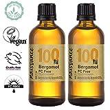 Naissance Olio Essenziale di Bergamotto (Non-FC), Vegano, Senza OGM - 200ml (2x100ml)
