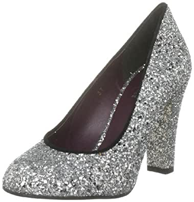 Beyond Skin Women's Sirene Synthetic Silver Glitter Vegetarian 3019 5 UK, 38 EU
