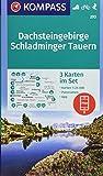 Dachsteingebirge, Schladminger Tauern: 3 Wanderkarten 1:25000 im Set mit Panoramen inklusive Karte zur offline Verwendung in der KOMPASS-App. Fahrradfahren. Skitouren. (KOMPASS-Wanderkarten, Band 293)