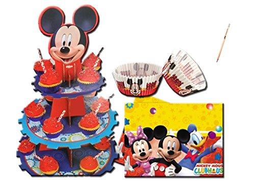 IRPot - SET CUP CAKE TOPOLINO MICKEY MOUSE ALZATINA +