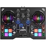 Hercules DJControl Instinct P8, Contrôleur DJ USB avec 8 Pads avec Carte Son, Sorties Audio pour Utilisation avec Casques et Enceintes