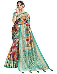 af2b5213eecda6 Being Banarasi Women s Silk Blend Saree with Blouse Piece(Free Size)
