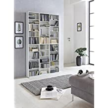 Dreams4Home Medienregal XL U0027Marilinu0027   Regal, Medienwand, Bücherregal,  Standregal, Aufbewahrung