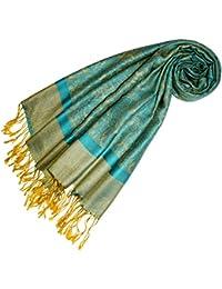 LORENZO CANA Designer Pashmina hochwertiger Markenschal jacquard gewebtes Paisley Muster 70 x 180 cm Modal harmonische Farben Schaltuch Schal Tuch 93222