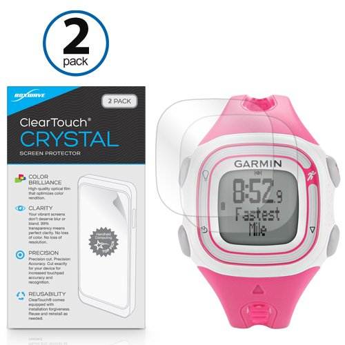 boxwave-garmin-forerunner-10-pink-white-cleartouch-crystal-2-pack-screen-protector-premium-quality-u