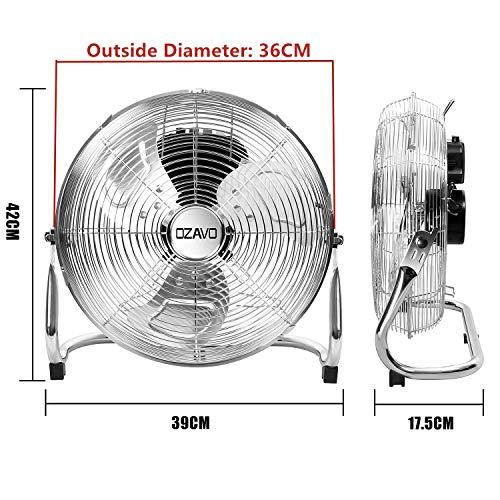 54cm Bodenventilator Windmaschine Lüfter Standventilator Ventilator 100W