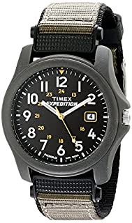 Timex Expedition Men's Quartz Watch with Black Dial Analogue Display and Grey Textile Strap - T425714E (B000NIQ0QW) | Amazon price tracker / tracking, Amazon price history charts, Amazon price watches, Amazon price drop alerts