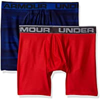 Under Armour, Original 6In 2 Pack Novlty, Boxer, Uomo, Blu (Royal/Red 400), L