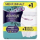 Always Discreet Inkontinenz-Höschen Plus, Größe M, 1er Pack (1 x 9+1 stück)
