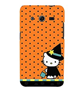 Orange Dots Girly 3D Hard Polycarbonate Designer Back Case Cover for Samsung Galaxy Core 2 G355H