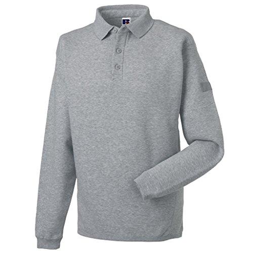 MAKZ Herren Poloshirt Grau - Light Oxford
