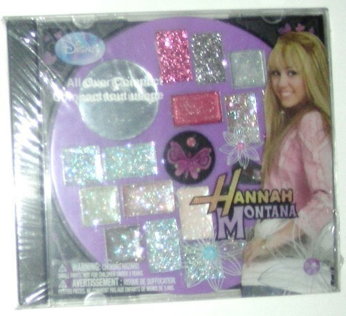 Hannah Montana All Over Compact CD Case (Eye Shadow & Lip Gloss) by CoCo-Shop