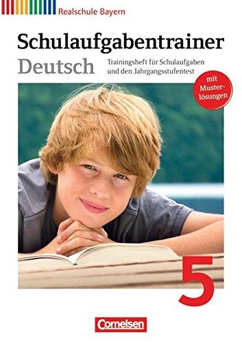deutschbuch-realschule-bayern-5-jahrgangsstufe-schulaufgabentrainer-mit-losungen