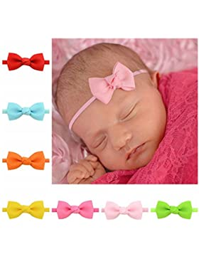 Tenxin Bebé niños niñas Bowknot Mini diadema elástica venda