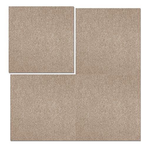 Teppichfliesen Can Can | selbstliegend | Rücken: Bitumen, rutschhemmend | Bodenbelag für Büro und Gewerbe | 50x50 cm | 5 Farben (Beige)