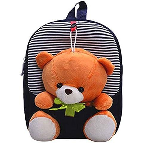 Ardisle - Zaino per la scuola per bambini, con orsetto Blur