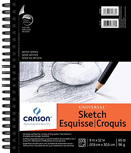 "Canson Artist Series Universal–Bloc de Dibujo, 0, 9""X12"""