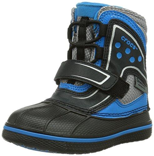 crocs AllCast Boot GS, Stivali da neve, impermeabili Unisex bambini, Nero (Black/Ocean), 29,5 (12 uk)