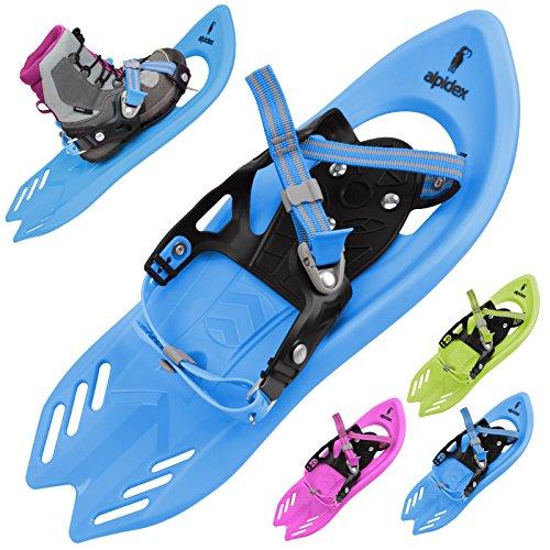 Alpidex Schneeschuh WINTERZWERG für Kinder in vielen Farben Kinderschneeschuh von Schuhgröße 26 bis 38, Farbe:Schneeschlumpf