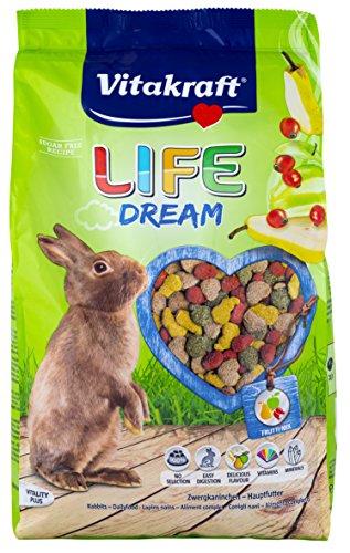 Vitakraft Life Dream, Hauptfutter für Zwergkaninchen mit Birne, Apfel und Hagebutte, 1,8 kg Packung (1 x 1,8 kg) - 3