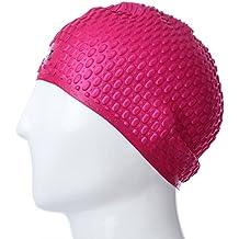 SHUFAGN,Gorra de natación de Silicona Impermeable Unisex Adult Protect Hair Ear Hat Impermeable(