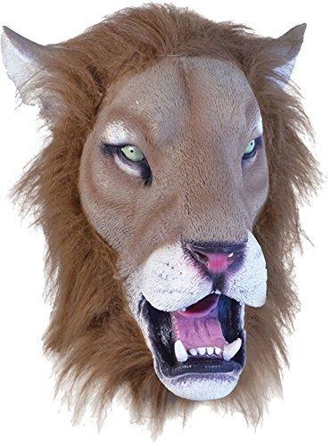 Dschungel Party Halloween Weihnachten Weihnachten Tier clubwear Cosplay Maske - Lion realistisch, One size (Realistische Tiger-kostüm)
