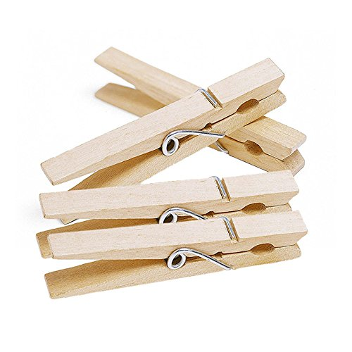 Photo Clips,Wooden Clips,7.2 cm Large Wooden Pegs, 100 Pcs Craft Clips Pegs, Photo Pins Wood Clips for DIY Arts&Crafts