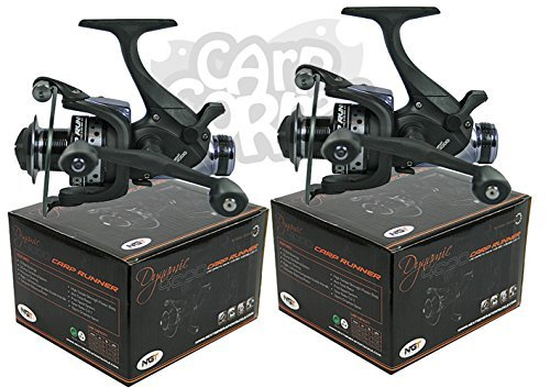 2x-Carp-Fishing-Baitrunner-Reel-with-Twin-Handle-And-10-Ball-Bearing-Spare-Spool
