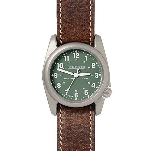 Bertucci 12094da uomo in pelle marrone quadrante verde Smart Watch