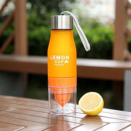 Zitrone / Frucht Infuser Wasserflasche, Zitrone Squeezer, Obst Infuser Cup, Loading Obst Infusion, Outdoor Sport Saft Wasserflaschen, BPA frei Trinkflaschen Orange