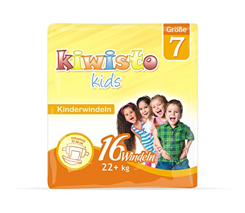 kiwisto Kids Kinderwindel Größe 7 - für Kinder von 3 bis 8 Jahren - bei Inkontinenz und Blasenschwäche