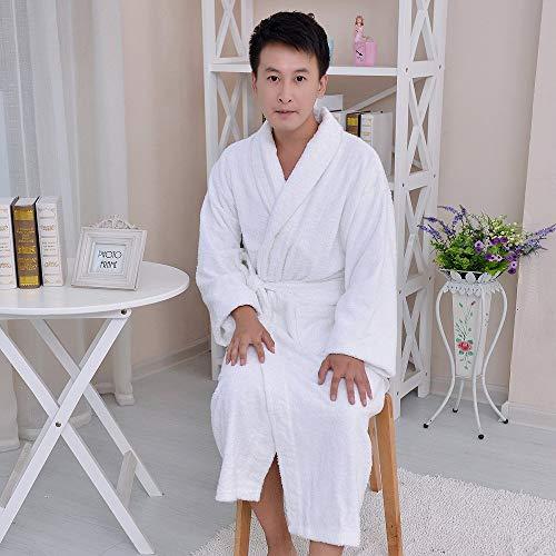 Nachtschlafanzug Baumwollbademäntel, Herren und Damen, warmes Handtuch, Bademantel, Morgenmantel (Farbe: Weiß, Größe: XL) Home Nachtwäsche (Farbe : White, Größe : X-Large)