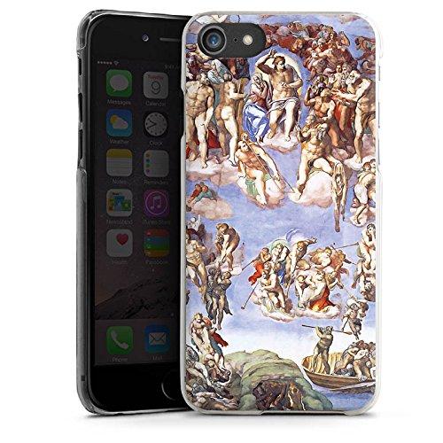 Apple iPhone X Silikon Hülle Case Schutzhülle Michelangelo Buonarroti Das jüngste Gericht Gemälde Hard Case transparent