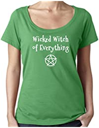 Cheeky Witch® Wicked Witch of Everything Halloween Scoop Neck Top Pagan Wiccan T-Shirt