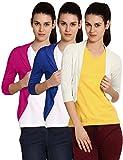 Softwear Womens Viscose Shrug Pack of 3