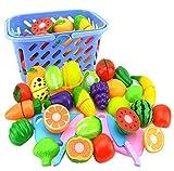 Spielzeug Schneidebrett, Hipsteen 23Pcs Schneideset Cutting Frucht Gemüse Küche Pretend Food Play Set für Kinder - Farbe zufällig