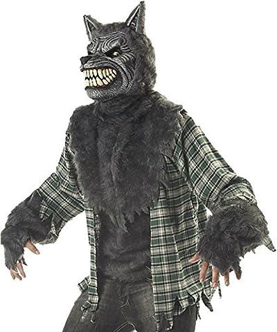 Herren Deluxe Vollmond Werwolf Madness, Halloween-Kostüm, Größe M und L (Ani-motion Werwolf Kostüm)