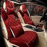 GAOFEI Coperchio del seggiolino auto, Universal full set fit breve tessuto caldo peluche , red