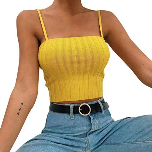 Armelloses Top, Frauen Verstellbare Schultergurte Neckholder Leibchen Crop Top (Selbstgemachte Kostüme Für Frauen)