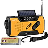 IntiPal Multifunktion Solar Dynamo Kurbel Radio mit 2000mAh Power Bank