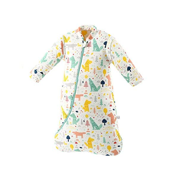 Dtcat Saco de Dormir con pies,Saco de Dormir para bebés,Saco de Dormir de algodón Engrosado de una Pieza para niños @ A_S,Unisex,Saco de Dormir para bebés-Cierre de Seguridad