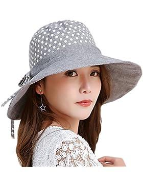 Leisial Mujer Señora Sun Hat Sombrero de Brim ancha Cap Bowknot elegante diseño Summer Beach Cap plegable y transpirable