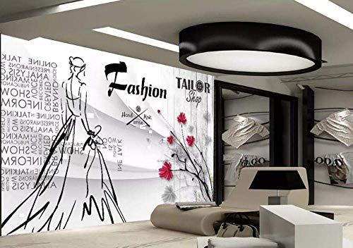 Kostüm 300 Königin - WYJW Tapete Wandbild 3D Persönlichkeit Mode Königin Kostüm Wanddekoration Kunst HD Druckplakat Bild Foto, 300x210 cm (BxH)