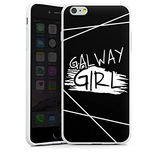 Apple iPhone 7 Silikon Hülle Case Schutzhülle Galway Girl Ed Sheeran Musik Silikon Case weiß