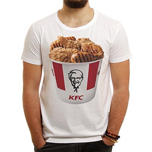 kfc-bucket-chicken-meat-delicious-quality-small-herren-t-shirt