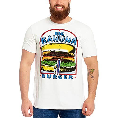 Burger Weißes T-shirt (Pulp Fiction Herren T-Shirt Big Kahuna Burger Logo Baumwolle weiß - XXL)