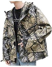 FRAUIT Parka Winterjacke Männer WarmMantel Einfarbig Reißverschluss Baumwolle Jacke Pelzkragen Dicker Winter Kapuzenmantel Outwear Parka Innenfutter